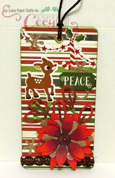 luisa papercrafts etiqueta navidea christmas tag