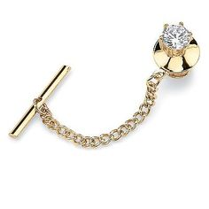 PalmBeach-Jewelry-Mens-1-25-TCW-Cubic-Zirconia-Tie-Tack-in-Yellow-Gold-Tone