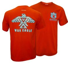 Aztec War Eagle Auburn University Comfort Colors Tee