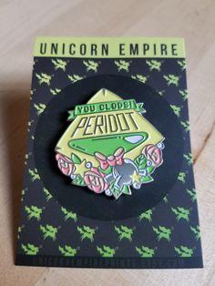 Steven Universe Enamel Pin Peridot Lapel by UnicornEmpirePrints