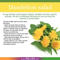 We created a bunch of recipes that could help folks with fibromyalgia. Dandelion is an ancient medicine sadly not used so much today. We aim to get it back into diets as the proven detox results are very powerful.