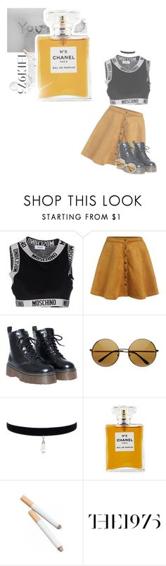 """""""*; I'm so high at the moment"""" by my-path-to-oblivion ❤ liked on Polyvore featuring Moschino and Chanel"""