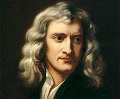 Isaac Newton (1642-1727)   Newton heeft de natuurwet uitgevonden (een algemeen geldende regel die in de natuur steeds terug komt, bijvoorbeeld de zwaartekracht). En hij kwam achter het zwaartekracht verhaal. Met de appel. Waarom valt de appel wel, maar de maan niet op de aarde. Rond de aarde bestaat zwaartekracht. Deze zorgt ervoor dat we niet van de aarde afvallen