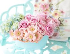 Scherer Beautiful Living Shabby Decorating Roses Pastel's