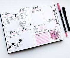 "110 mentions J'aime, 6 commentaires - Virginie (@french_dreamer_life_lover) sur Instagram : ""Prête pour une nouvelle semaine   #février #february #daily  #weekly #pink #rose #bulletjournal…"""
