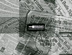 News - Brushes Newspaper Background, You Get It, Free Photoshop, Illustration, Pattern, Patterns, Illustrations, Model, Swatch