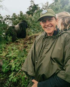Ellen DeGeneres spends time with gorillas, giraffes, and Portia during life-changing trip to Africa — Yahoo Entertainment Gorillas In The Wild, Baby Gorillas, Travel And Tours Agency, Most Endangered Animals, Dian Fossey, Ellen And Portia, Gorilla Trekking, Portia De Rossi, Mountain Gorilla