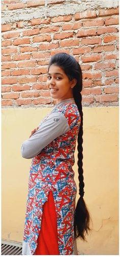 Long Indian Hair, Beautiful Long Hair, Indian Hairstyles, Braids, Sari, Long Hair Styles, Beauty, Dresses, Smile