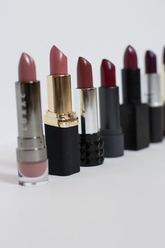The Best Fall Lipsticks for 2015. Every color from mauve, nude pink, brown, red, and dark purple.