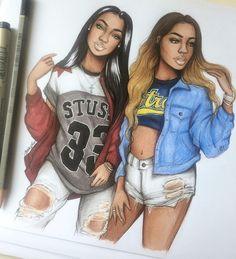 BFF  #sketch #fashionsketch #fashiondrawing #fashionillustration #drawing #illustration #art #artist #fashionable #nataliamadej