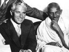 Charlie Chaplin e Gandhi
