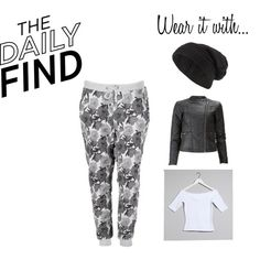Daily Find - Floral Sweatpants by jadeclaire19 on Polyvore