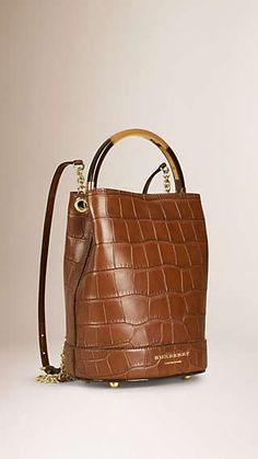 1aabc96215 The Bucket Backpack in Alligator Burberry Store