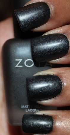 Dovima- smoky charcoal-black with strong silver shimmer Fall Nail Polish, Charcoal Black, Swatch, Geek Stuff, Strong, Prom, Nails, Silver, Beauty