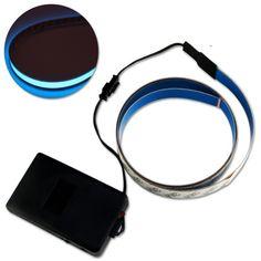 Blue 3 ft (1mx2cm)Neon Glowing Strobing Electroluminescent Robbin EL Tape Belt