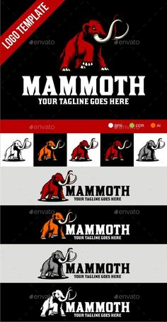 Mammoth by herulogo Logo template suitable for businesses and product names.Easy to edit, change size, color and text. CMYK Ai, cdr and EPS formatsful Bakery Logo Design, Branding Design, Corporate Branding, Logo Branding, Brand Identity, Logo Design Template, Logo Templates, Japanese Logo, Elephant Logo