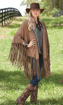 """<3 Crow's Nest ~ Dakota Diamond Duster """"change hat boots and shawl to black and add some turquoise belt and squash blossom"""""""