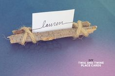 diy twig and twine place cards
