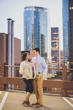 Downtown Houston, TX Engagement Photoshoot
