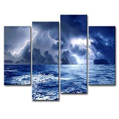 Canvas Print Wall Art Painting For Home Decor Dark Clouds Gather s