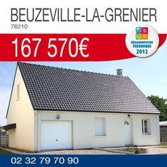 #HabitatConcept vous propose cette maison comprenant 3 chambres dont une au rez-de-chaussée et un garage sur un terrain de 664m² à BEUZEVILLE-LA-GRENIER (76210) pour 167 570€ !