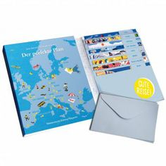#design3000 Reisepostkarten-Set Der perfekte Plan mit 16 Klappkarten und Geheimtipps für den nächsten Kurz-Urlaub.