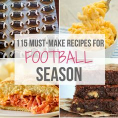 A roundup of my favorite football food recipes including snacks, appetizers, san… A roundup of my favorite football food recipes Tailgate Appetizers, Great Appetizers, Appetizer Recipes, Potluck Recipes, Party Recipes, Snack Recipes, Chili, Food Film, Sandwiches