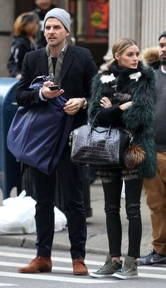 Style Maven : Olivia Palermo's Patchwork Fur and Leather...