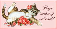 017 přání krásný víkend animace Love Is Sweet, Cute Cats, Teddy Bear, Friends, Pretty Cats, Amigos, Teddy Bears, Boyfriends