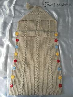Nid d'ange, gigoteuse bébé tricoté main : Mode Bébé par tricot-boutchou