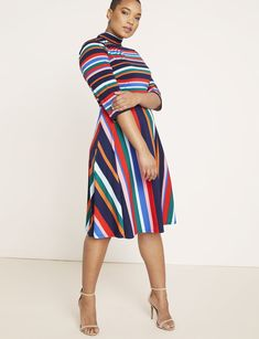 View our Printed Fit and Flare Dress and shop our selection of plus size designer women's Dresses, plus size clothing and fashionable accessories. Plus Size Fashion For Women, Plus Size Womens Clothing, Size Clothing, Clothing Stores, Plus Size Dresses, Plus Size Outfits, Stylish Plus, Plus Size Designers, Ladies Dress Design