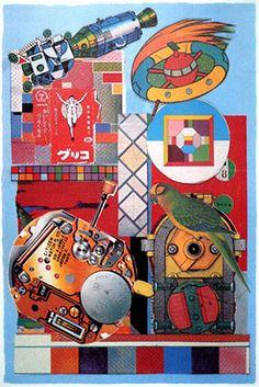 Eduardo Paolozzi Illustrations, Illustration Art, Eduardo Paolozzi, Pop Culture References, Art Thou, Cultura Pop, Photomontage, Pattern Art, Doodle Art