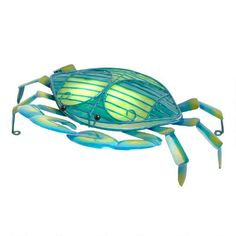 One of my favorite discoveries at ChristmasTreeShops.com: Blue Metal Crab Lamp