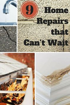 There are some home repairs you should not put off. Small problems can lead to expensive repairs in the long run, so take heed when you see these red flags at your house.