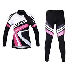 Santic Womens Fleece Thermal Long Sleeve Cycling Jersey And Padded Pants  Sets Size M  gt  44db628fd