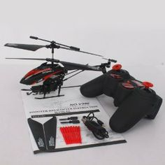 V398 3.5Channel Missile Shooting Remote Control Helicopter Red by Crazy Cart. $36.99. Features: 1. It is very easy to control 2. A fantastic gift for your kid 3. It will bring your kid lots of fun 4. Beautiful and classic toy 5. Flight Control: Infrared remote control 6. It will be a good companion of your kid 7. It will give your kid unforgettable memory on special days  Specifications: 1. Main Rotor Diameter: 19.5cm/7.68inch 2. Channel: 3.5 3. Remote control batter...
