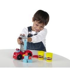 Amazon.com: Play-Doh Diggin' Rigs Boomer the Fire Truck: Toys & Games