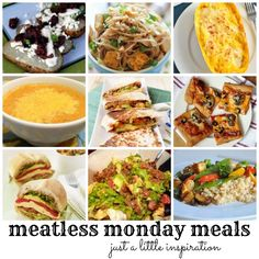 9 Meatless Monday Meals #vegetarian #vegan #recipes