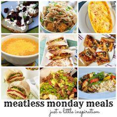 9 Meatless Monday Meals #vegetarian #vegan #recipes