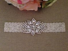 Wedding Garter Bridal Garter Crystal by BellaFleurBridal on Etsy