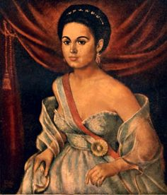 Manuela Sáenz 'Libertadora del libertador' - Mistress of Simón Bolívar, revolutionary and women's rights activist.   After Bolivar's death, as a destitute exile in Peru, Manuela sold tobacco and translated letters for North American whale hunters who wrote to their lovers in Latin America. While there she met the American author Herman Melville, and the revolutionary Giuseppe Garibaldi.
