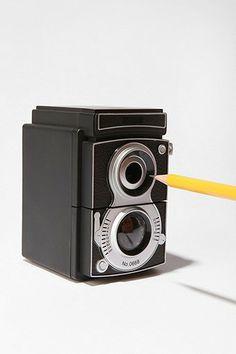 Unique pencil sharpener! Camera Pencil Sharpener