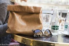 These Marie Turnor Picnic Clutches Look Like Paper Carriers #backtoschool #lunchbags trendhunter.com