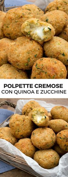 Quinoa, courgette and stracchino meatballs – Meat Foods Ideas Meat Recipes, Healthy Dinner Recipes, Real Food Recipes, Vegetarian Recipes, Couscous Quinoa, Light Recipes, International Recipes, Diy Food, My Favorite Food
