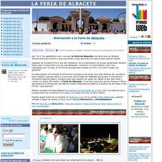 The website 'feria-de-albacete.albacity.org' courtesy of Pinstamatic (http://pinstamatic.com)
