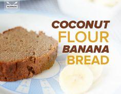 Coconut Flour Banana Bread  #justeatrealfood #paleohacks