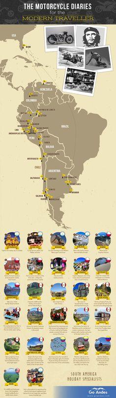 Che Guevara Motorcycle Diaries Map