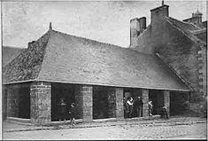 Les halles de Pont Aven, 1900. Crédit photo : Gérard Berthelom, Pont Aven