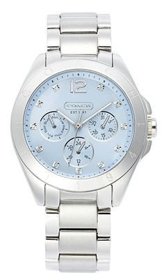 pretty #Coach #silver and #blue #watch http://rstyle.me/n/fz8vkpdpe