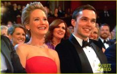 Jennifer Lawrence And Nicolas Hoult In Oscar (2014)